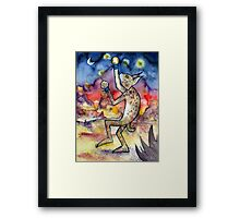 Spars with Fireflies Framed Print