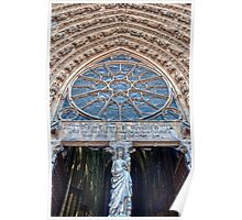 The Entrance to Reims Cathedral Poster