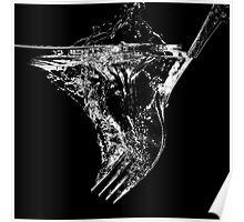 Splashing fork Poster