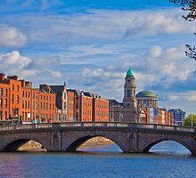 Ireland. Dublin. River Liffey. by vadim19