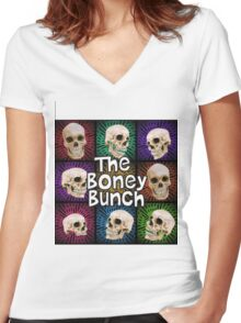 The Boney Bunch Women's Fitted V-Neck T-Shirt
