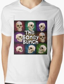 The Boney Bunch Mens V-Neck T-Shirt