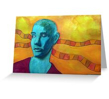 396 - SINEAD O'CONNOR - DAVE EDWARDS - WATERCOLOUR - 2013 Greeting Card