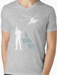 Metal Gear Solid - 'A Hind D!?' Mk.2 Mens V-Neck T-Shirt