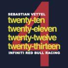 SEBASTIAN VETTEL 4 WORLD CHAMPIONSHIPS by brilliantbutton