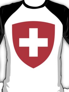 Switzerland UNTOUCHED | Europe Heraldry | SteezeFactory.com T-Shirt