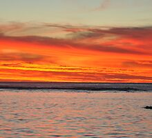 Sunset Over Rarotonga, Cook Islands by jcimagery