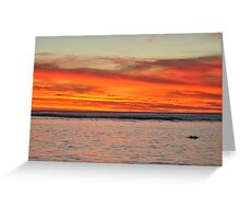 Sunset Over Rarotonga, Cook Islands Greeting Card