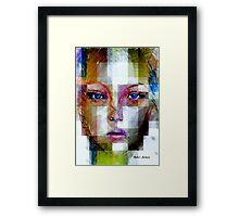 Blue Eyes Girl Framed Print