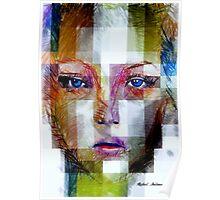 Blue Eyes Girl Poster