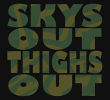 SKYS OUT, THIGHS OUT by bakerandness