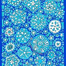 Snowflake Wishes (on Blue) by Sammy Nuttall