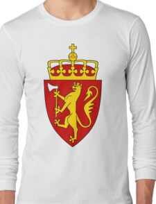 Norway GOLD | Europe Stickers | SteezeFactory.com Long Sleeve T-Shirt