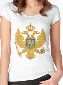 Montenegro | Europe Stickers | SteezeFactory.com Women's Fitted Scoop T-Shirt