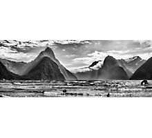 Milford Sound in Monochrome Photographic Print