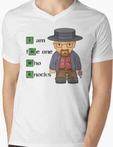"""I am the one who knocks!!"" Walter White - Breaking Bad Mens V-Neck T-Shirt"