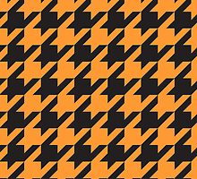 Houndstooth - Orange / Black by Surpryse
