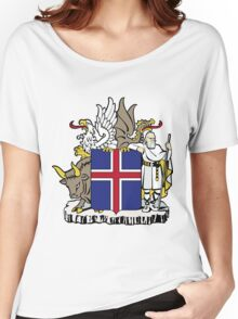 Iceland | Europe Stickers | SteezeFactory.com Women's Relaxed Fit T-Shirt