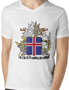 Iceland | Europe Stickers | SteezeFactory.com Mens V-Neck T-Shirt