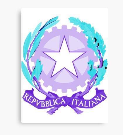 Italy PURPLE | Europe Stickers | SteezeFactory.com Canvas Print