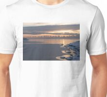 Fresh Snow Lakeside Morning Unisex T-Shirt