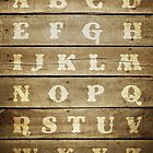 rustic wooden alphabet - nursery print by creativemonsoon