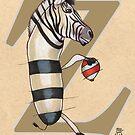 Z is for ZEBRA by busymockingbird