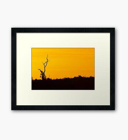 Sunset in the Hills  Framed Print