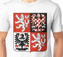 Czech Republic RED BLACK | Europe Stickers | SteezeFactory.com Unisex T-Shirt