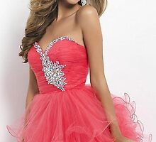 Pink Strapless Babydoll Dress Evening Dresses World Wide Shipping    by cnaisejfiuwa