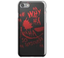 Why So Serious iPhone Case/Skin