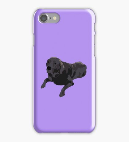 Purple Chocolate Lab iPhone Case/Skin