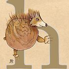 H is for HEDGEHOG by busymockingbird
