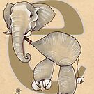 E is for ELEPHANT by busymockingbird