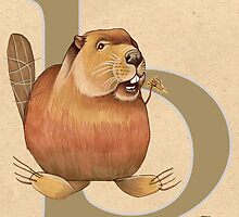 B is for BEAVER by busymockingbird