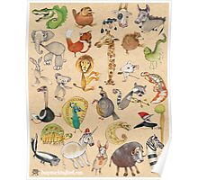 ABC Animals Poster
