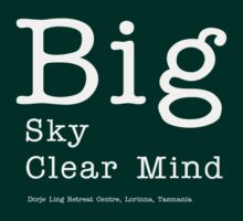 Big Sky Clear Mind - for dark backgrounds by tashicholing