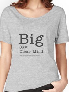 Big Sky Clear Mind - for light backgrounds Women's Relaxed Fit T-Shirt