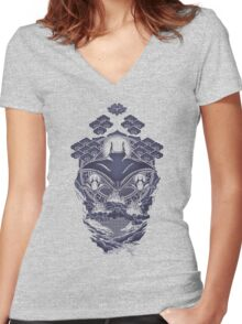 Mantra Ray Women's Fitted V-Neck T-Shirt
