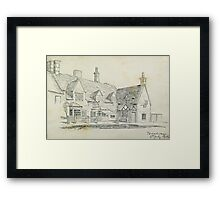 "Pencil sketch, ""Broadway"" 1908 Framed Print"