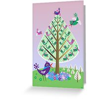 The Flutter Tree Greeting Card
