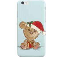 Teddy bear at Christmas iPhone Case/Skin