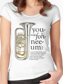 You-foh-nee-um Women's Fitted Scoop T-Shirt