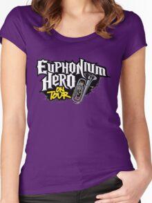 Euphonium Hero on Tour Women's Fitted Scoop T-Shirt