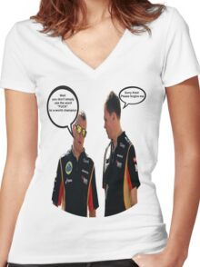 Räikkönen: well you don't simply use the word fuck to a world champion Women's Fitted V-Neck T-Shirt