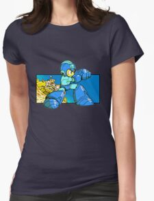 Blue-Buster Womens Fitted T-Shirt