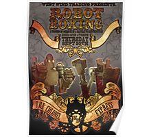 Steam Punk Robot Boxing Poster
