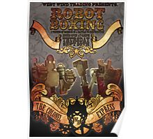 Steam Punk Robot Boxing Poster