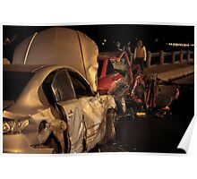 accident at night road Poster