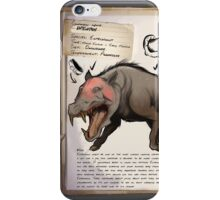Entelodont Dossier phone case iPhone Case/Skin